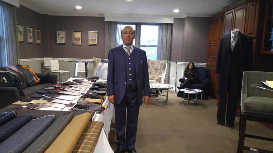 Mohammed Kalam, owner of Crown Custom Clothing