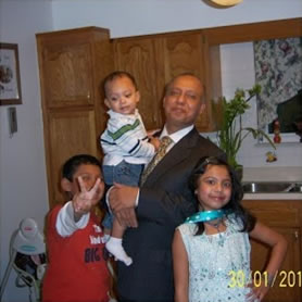Mohammed Kalam and his family